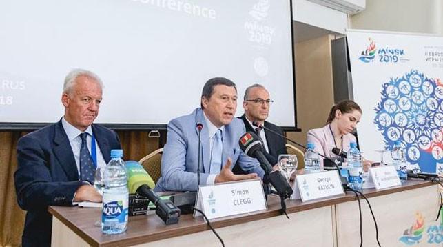 Во время пресс-конференции. Фото официального сайта Европейских игр
