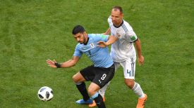 Во время матча Россия - Уругвай. Фото ФИФА