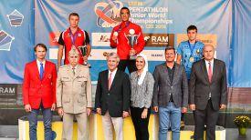 Иван Хамцов (на пьедестале - справа). Фото организаторов солревнований