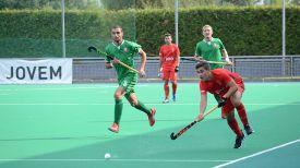 Во время матча. Фото Белорусской федерации хоккея на траве