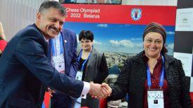 Сергей Ковальчук и Майя Чибурданидзе. Фото Министерства спорта и туризма