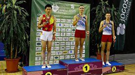 Гао Лей, Владислав Гончаров и Олег Рябцев. Фото Белорусской ассоциации гимнастики