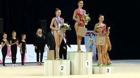 Анастасия Салос, Екатерина Селезнева и Марина Сергеева. Фото gymnasticsdvd.de
