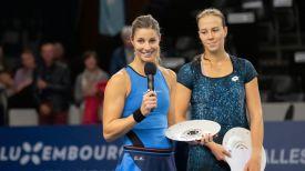 Мэнди Минелла и Вера Лапко. Фото Белорусской теннисной федерации