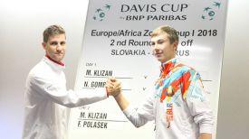 Мартин Клижан и Александр Згировский. Фото Белорусской теннисной федерации