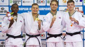 Виктор Кляусов (слева) завоевал бронзу. Фото из сообщества VK JUDO BELARUS TEAM
