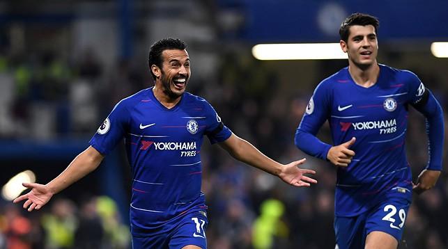 """Педро Родригес и Альваро Мората. Фото официального сайта """"Челси"""""""