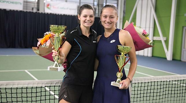 Ирина Шиманович и Илона Кремень. Фото Белорусской теннисной федерации