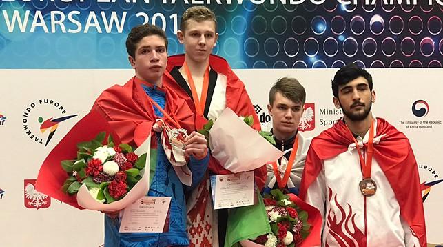 Артем Плонис и Иван Павловский (слева). Фото Белорусской федерации таэквондо