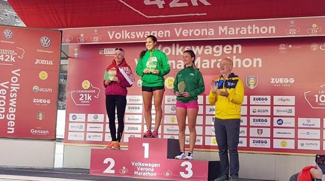 Надежда Скардино (слева). Фото организаторов марафона