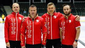 Участники белорусской команды. Фото из архива Белорусской ассоциации керлинга