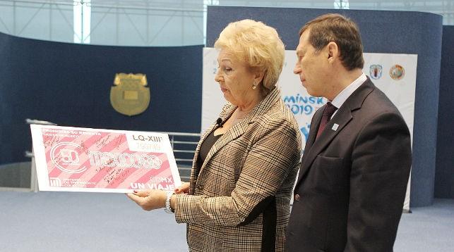 Елена Белова и Георгий Катулин. Фото НОК Беларуси