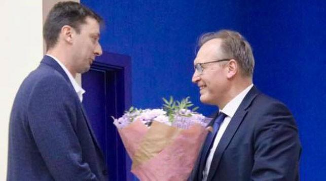 Эдуард Венский и Владимир Ващенко. Фото Белорусской федерации волейбола