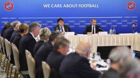Во время заседания. Фото УЕФА