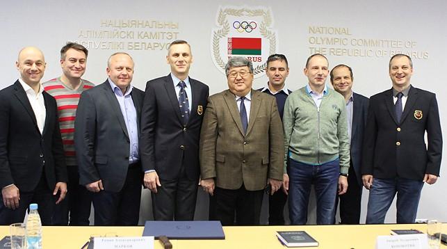 Участники встречи. Фото НОК Беларуси
