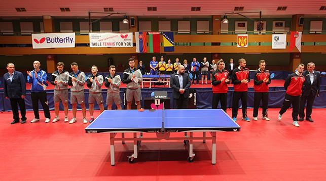 Перед матчем Словакия - Беларусь. Фото Словацкой федерации настольного тенниса