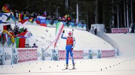 Кайса Мякяряйнен на финише гонки преследования. Фото IBU