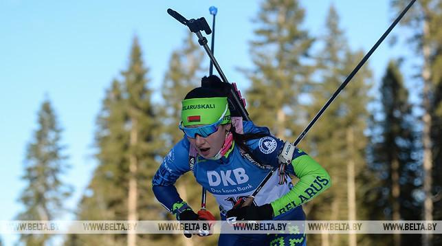 Ирина Кривко на дистанции во время спринтерской гонки в Поклюке