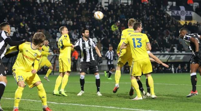 Во время матча. Фото paok24.com