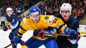 Во время матча Швеция - США. Фото IIHF