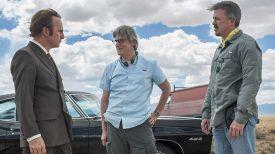 """Винс Гиллиган (справа) на съемках сериала """"Лучше звоните Солу"""". Фото AMC"""