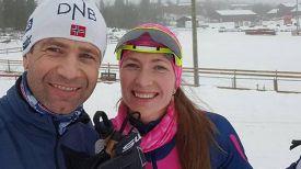 Уле-Эйнар Бьорндален и Дарья Домрчаева. Фото инстаграм-аккаунта Уле-Эйнара Бьорндалена