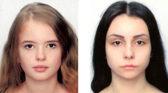 Пропавшие девушки: Короткова Анастасия и Корж Мария. Фото УВД Брестского облисполкома
