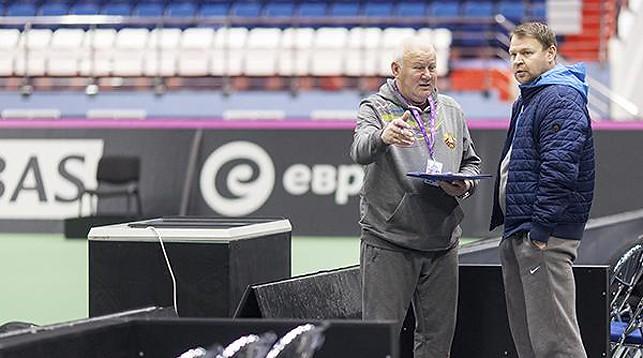 Эдуард Дубров и Владимир Волчков. Фото Белорусской теннисной федерации