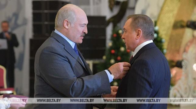 Александр Лукашенко вручил орден Отечества III степени министру иностранных дел Беларуси Владимиру Макею