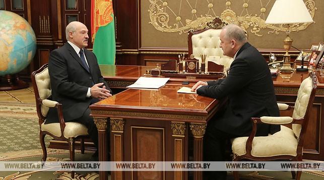 Александр Лукашенко и Павел Каллаур
