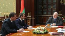 Александр Лукашенко, Александр Мороз и Андрей Свиридов