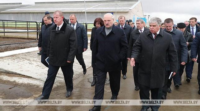 Александр Лукашенко во время рабочей поездки в Могилевскую область