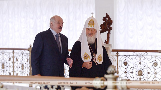 Александр Лукашенко и Патриарх Кирилл. Фото из архива