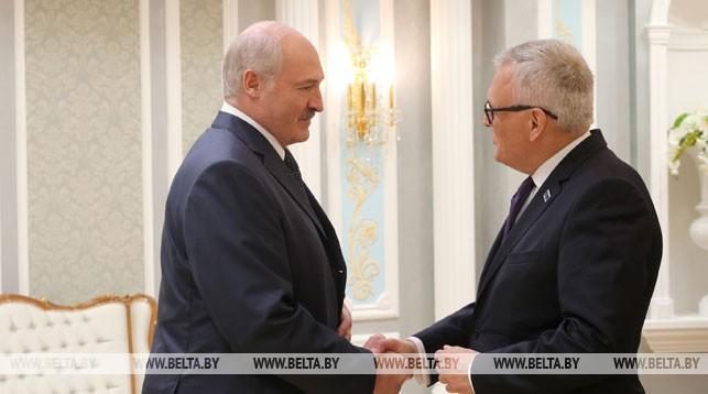 Александр Лукашенко и Андерс Кнапе