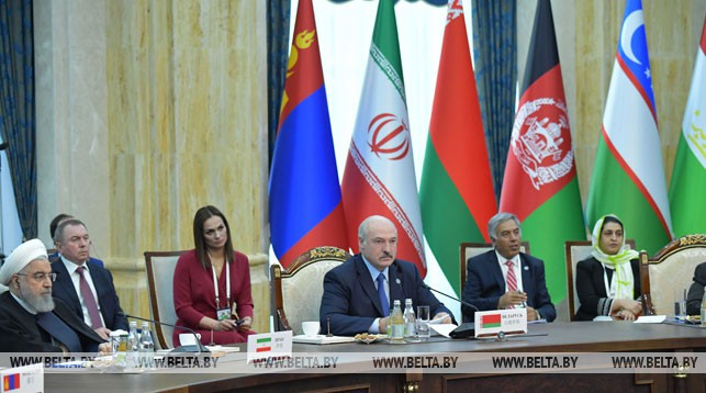 Александр Лукашенко во время саммита