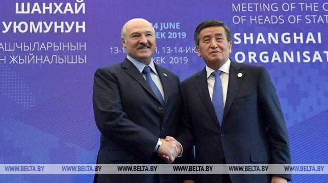 Президент Беларуси Александр Лукашенко и Президент Кыргызстана Сооронбай Жээнбеков