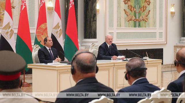 Абдель Фаттах ас-Сиси и Александр Лукашенко