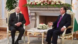 Александр Лукашенко и Эмомали Рахмон, 2018 год