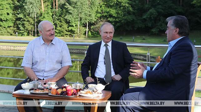 Александр Лукашенко, Владимир Путин и Эмомали Рахмон