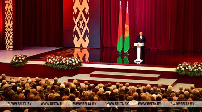 Выступает Александр Лукашенко