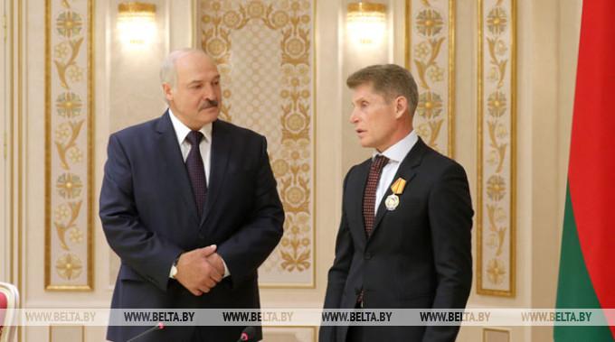 Александр Лукашенко и Олег Кожемяко