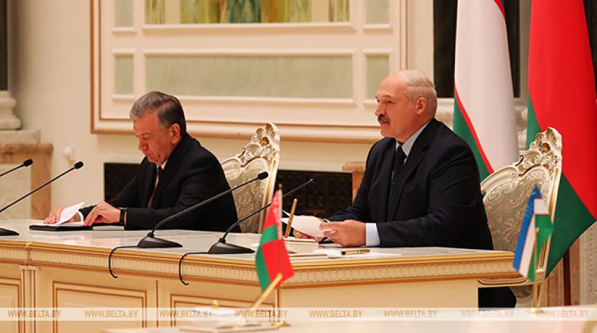 Шавкат Мирзиёев и Александр Лукашенко