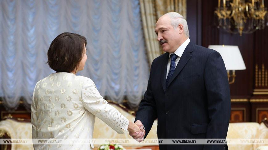 Фионна Гибб и Александр Лукашенко