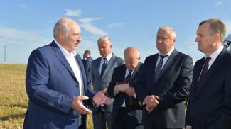 Александр Лукашенко во время рабочей поездки