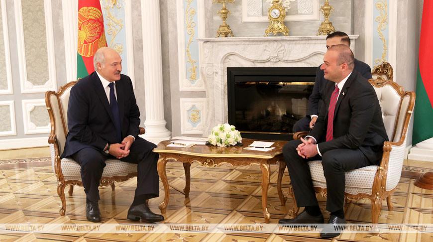 Александр Лукашенко и Мамука Бахтадзе