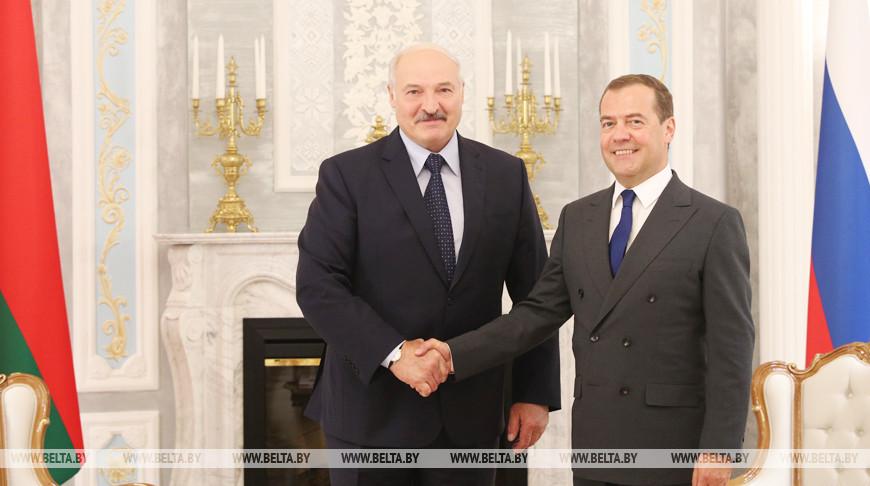 Александр Лукашенко и Дмитрий Медведев. Фото из архива