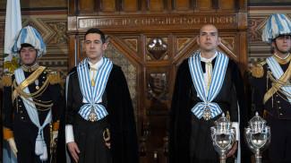Капитаны-регенты Никола Сельва и Микеле Муратори. Фото Libertas.sm