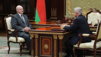 Александр Лукашенко и Станислав Зась во время встречи
