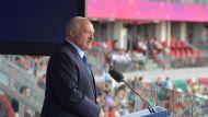 Выступление Президента Беларуси на церемонии открытия легкоатлетического матча Европа - США
