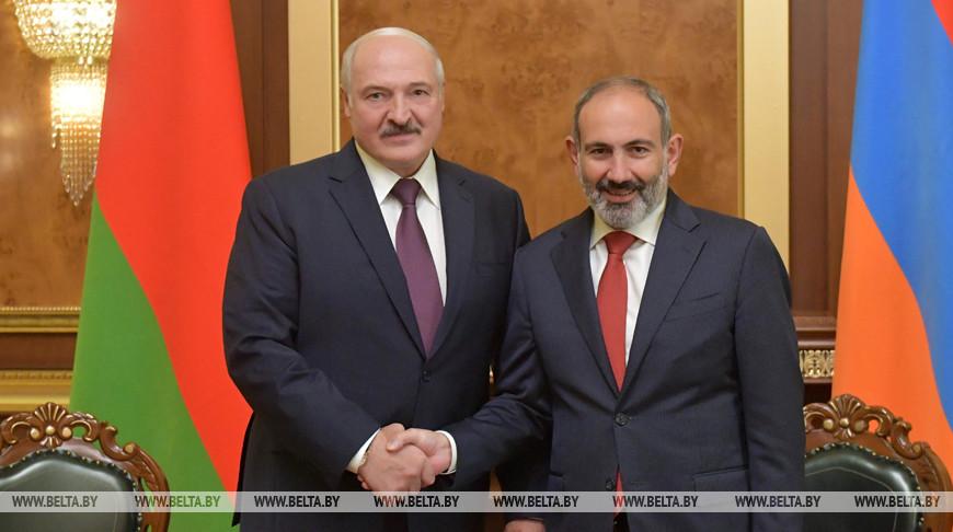 Александр Лукашенко и Никол Пашинян